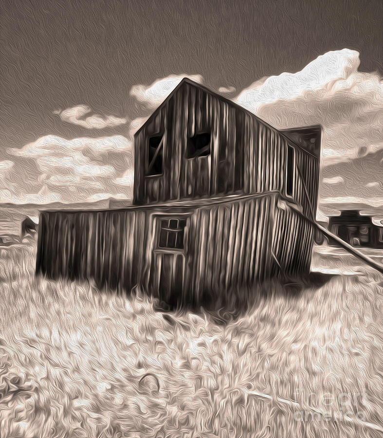 Bodie Ghost Town Painting - Bodie Ghost Town - Bent House 03 by Gregory Dyer