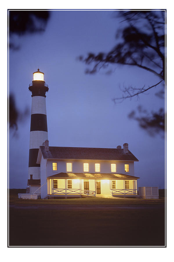 Seascape Photograph - Bodie Light Just After Dark by Mike McGlothlen