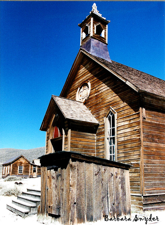 Barbara Snyder Digital Art - Bodie Methodist Church by Barbara Snyder