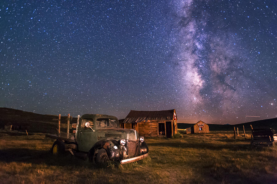 Night Photograph - Bodie Nights by Cat Connor