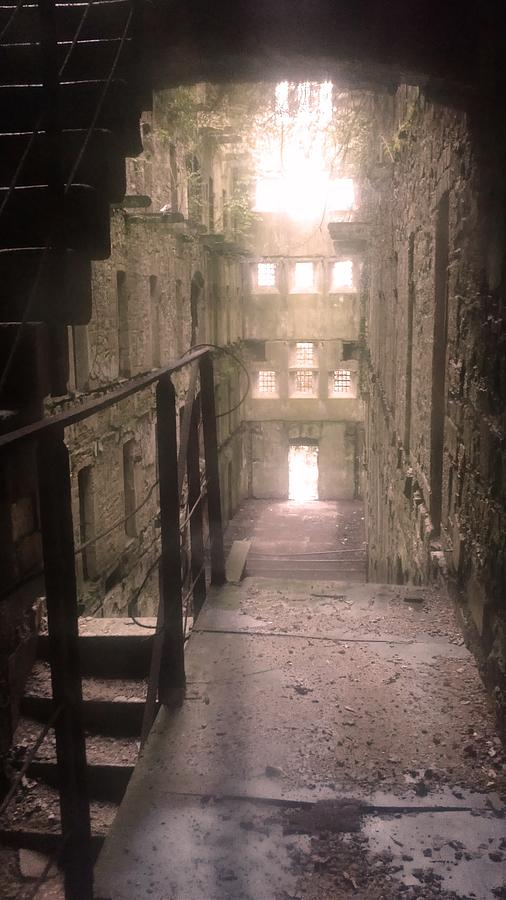 Jail Photograph - Bodmin Jail Looking In by Lisa Byrne