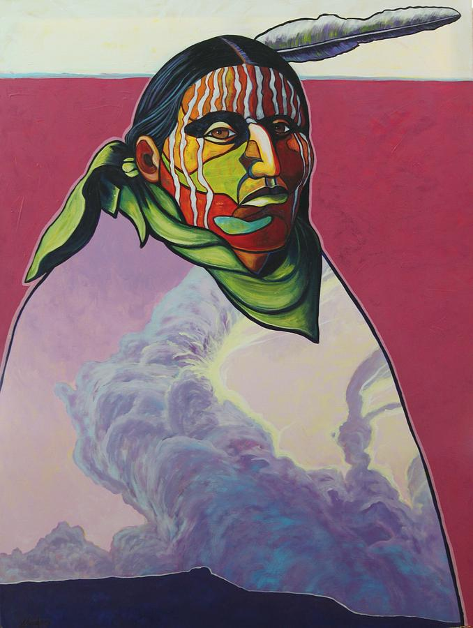 Native American Indian Painting - Body And Soul by Joe  Triano
