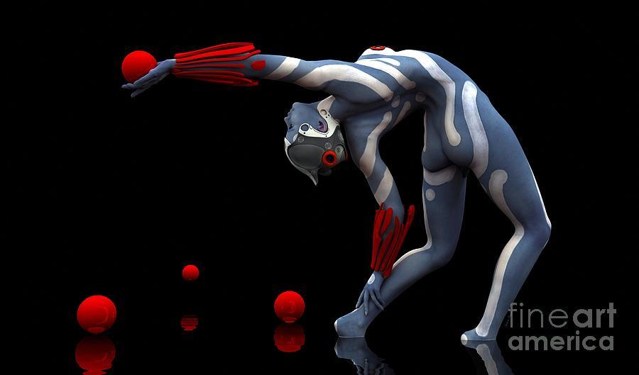 Body Digital Art - Body In Motion by Sandra Bauser Digital Art
