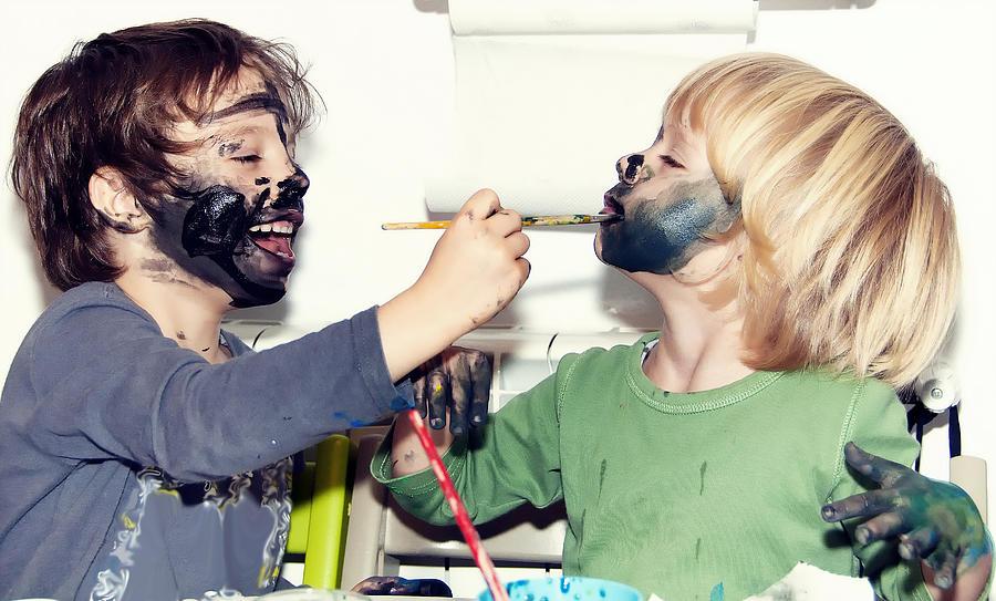 Body Painting Face Photograph by Paul Biris