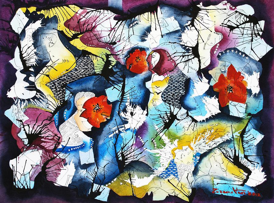 Watercolor Painting - Body Parts by Zuzana Vass