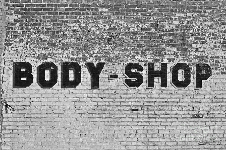 Black Photograph - Body Shop by Valerie Fuqua