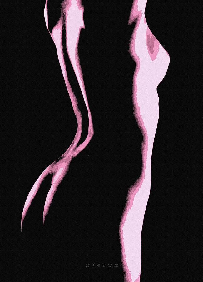 Nude Digital Art - Body Waves 5 by Piety Dsilva