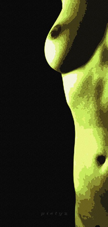 Nude Digital Art - Body Waves 8 by Piety Dsilva