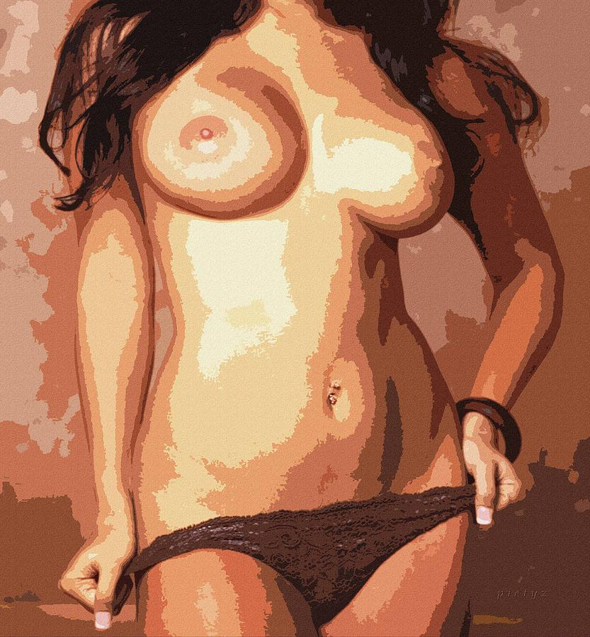 Nude Digital Art - Body Waves 9 by Piety Dsilva