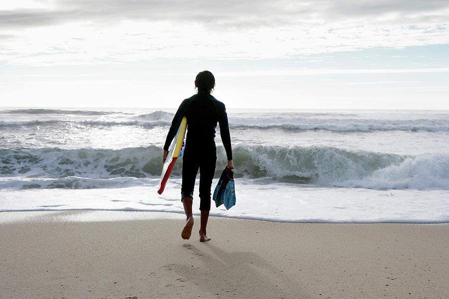 Equipment Photograph - Bodyboarder by Gustoimages/science Photo Library