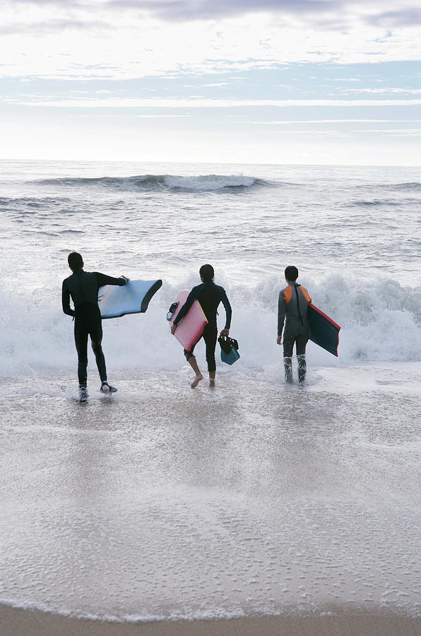Equipment Photograph - Bodyboarders by Gustoimages/science Photo Library