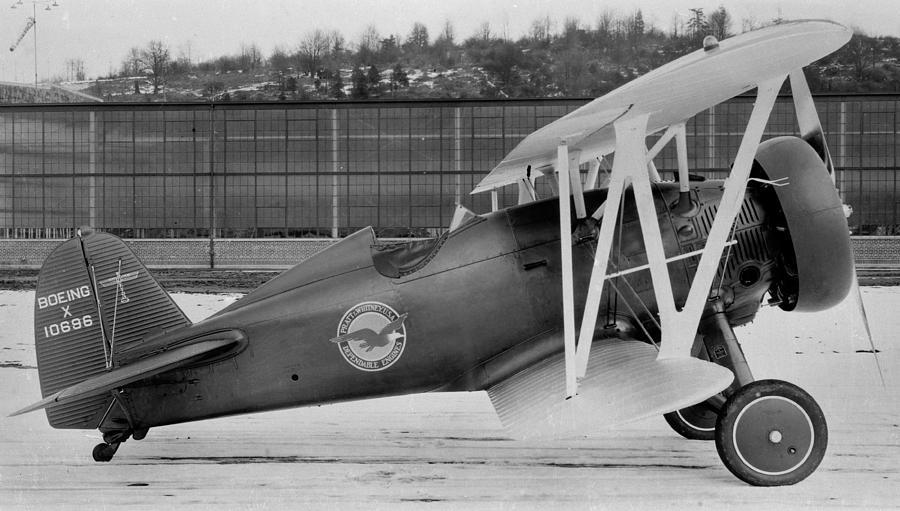 Boeing 100-f  P-12 Prototype Photograph by Hank Clark