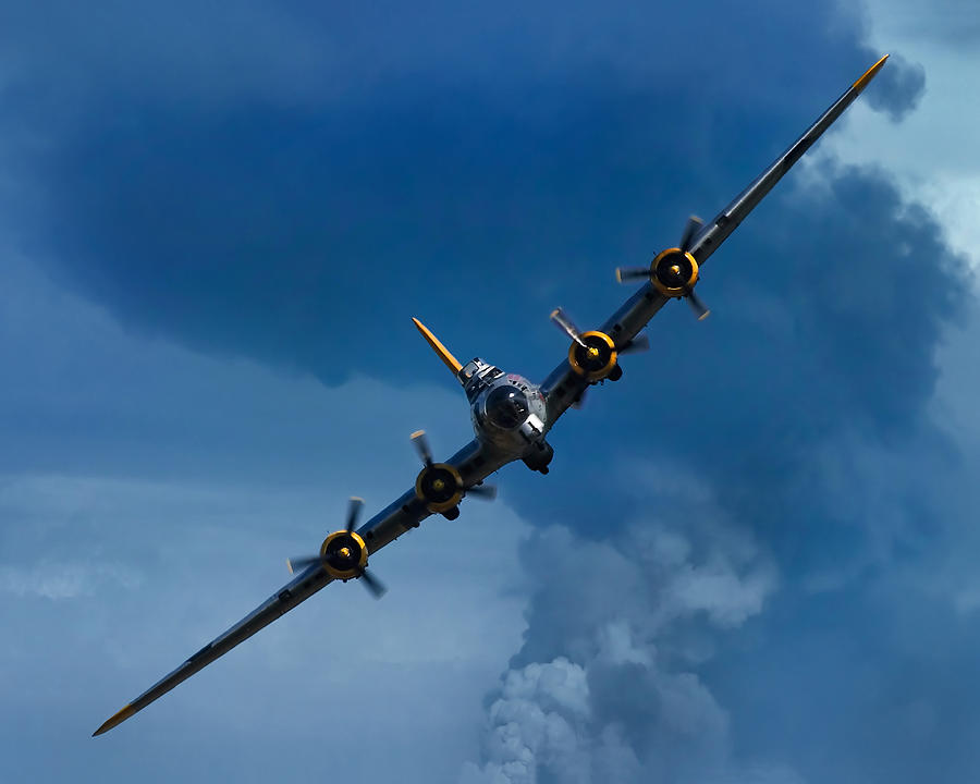 Aerial Photograph - Boeing B-17 Flying Fortress by Adam Romanowicz