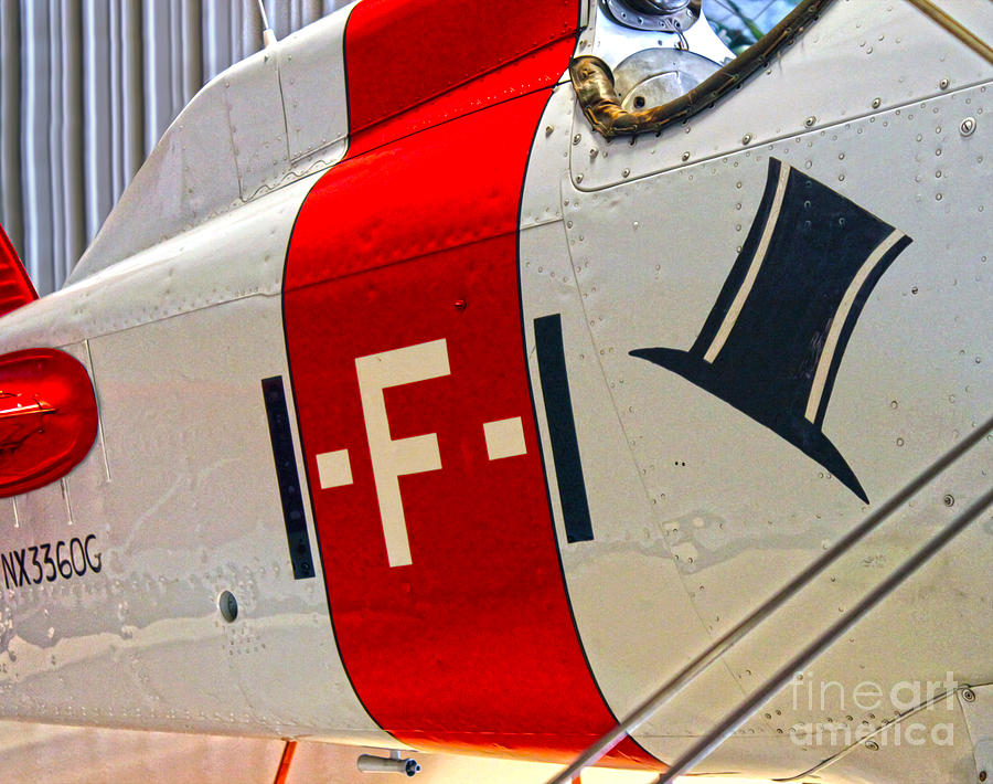 Aircraft Photograph - Boeing Fighter 4b-1 -  Close Up by Gregory Dyer