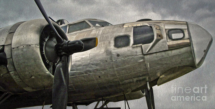 Aircraft Painting - Boeing Flying Fortress B-17g  -  04 by Gregory Dyer