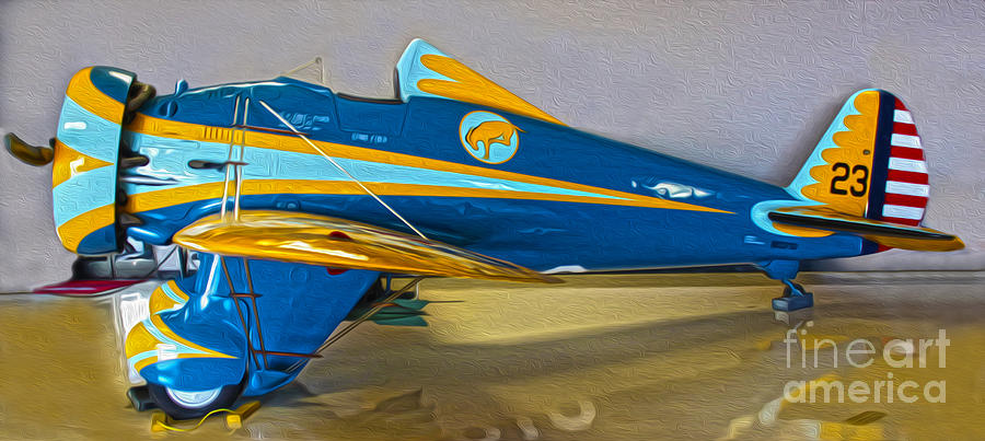 Aircraft Painting - Boeing Peashooter P-26a  -  01 by Gregory Dyer