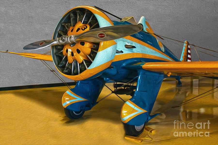 Aircraft Painting - Boeing Peashooter P-26a  -  02 by Gregory Dyer