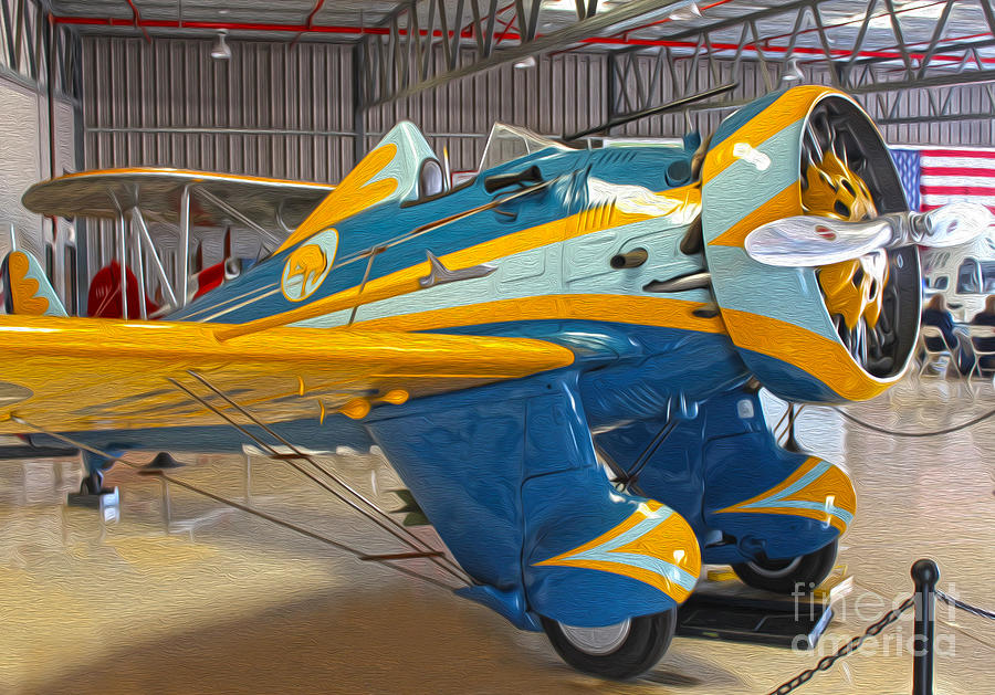 Boeing Peashooter P-26a Painting - Boeing Peashooter P-26a  -  03 by Gregory Dyer