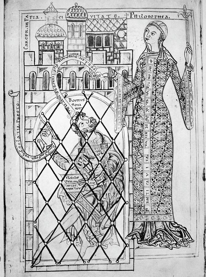 5th Century Painting - Boethius (c480-c524) by Granger