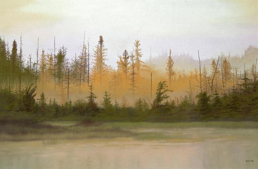 Landscape Pastel - Bog Out Back by Bruce Richardson