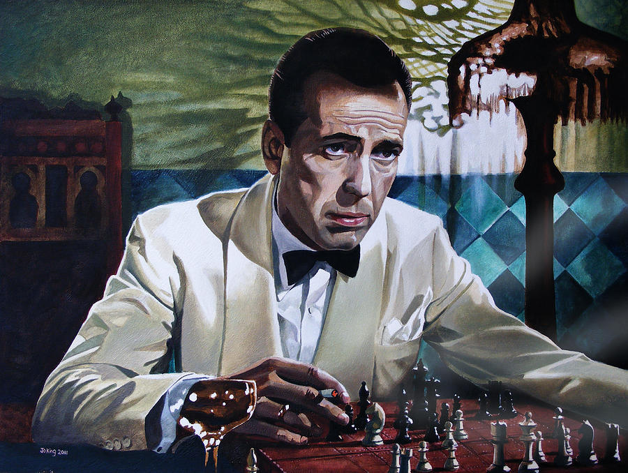Humphrey Bogart Painting - Bogart - Casablanca by Jo King