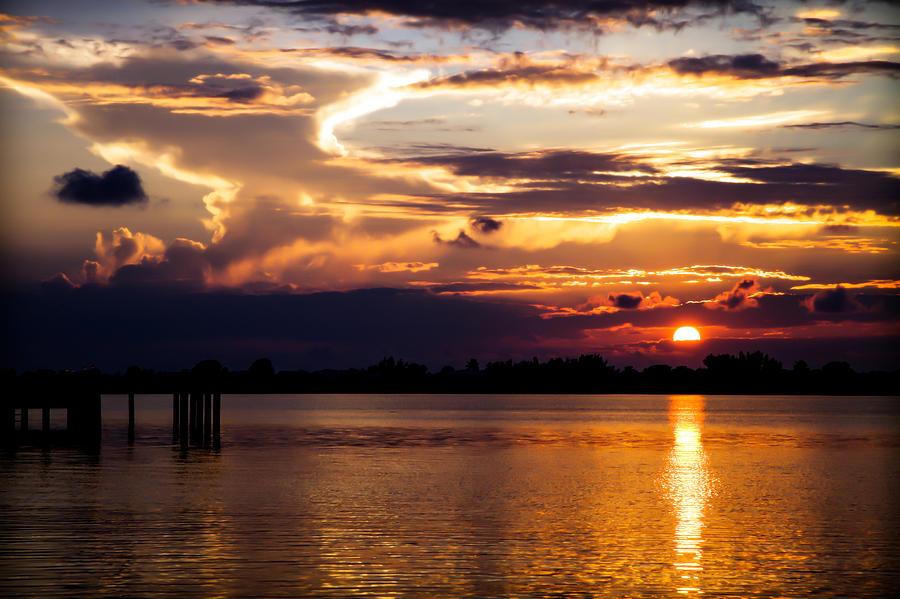 Purple Sunsets Photograph - Bogart Dreams by Karen Wiles