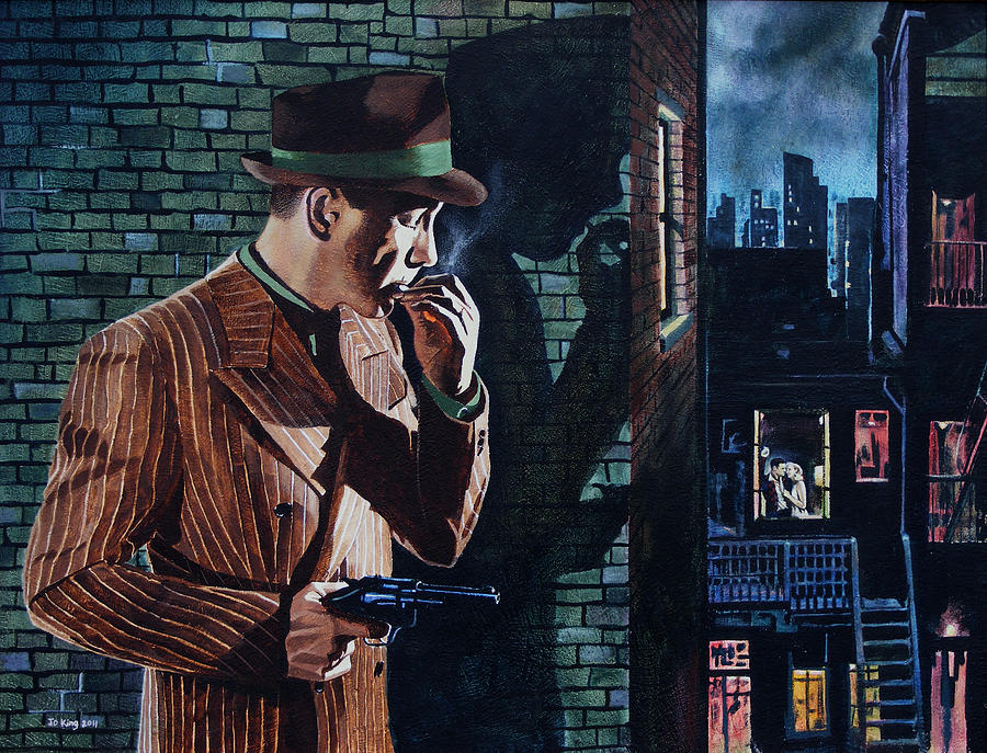 Celebrity Painting - Bogart Is Waiting by Jo King