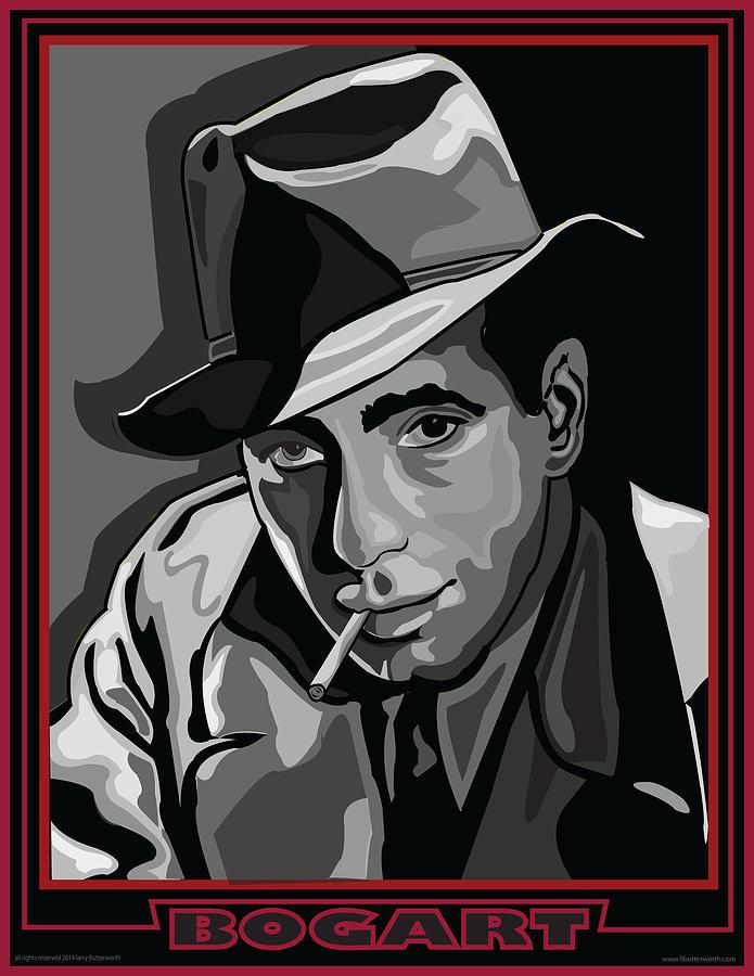 Celebrity Portrait Digital Art - Bogart by Larry Butterworth