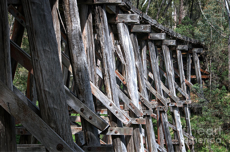 Boggy Creek Timber Trestle Bridge Details by Peter Kneen
