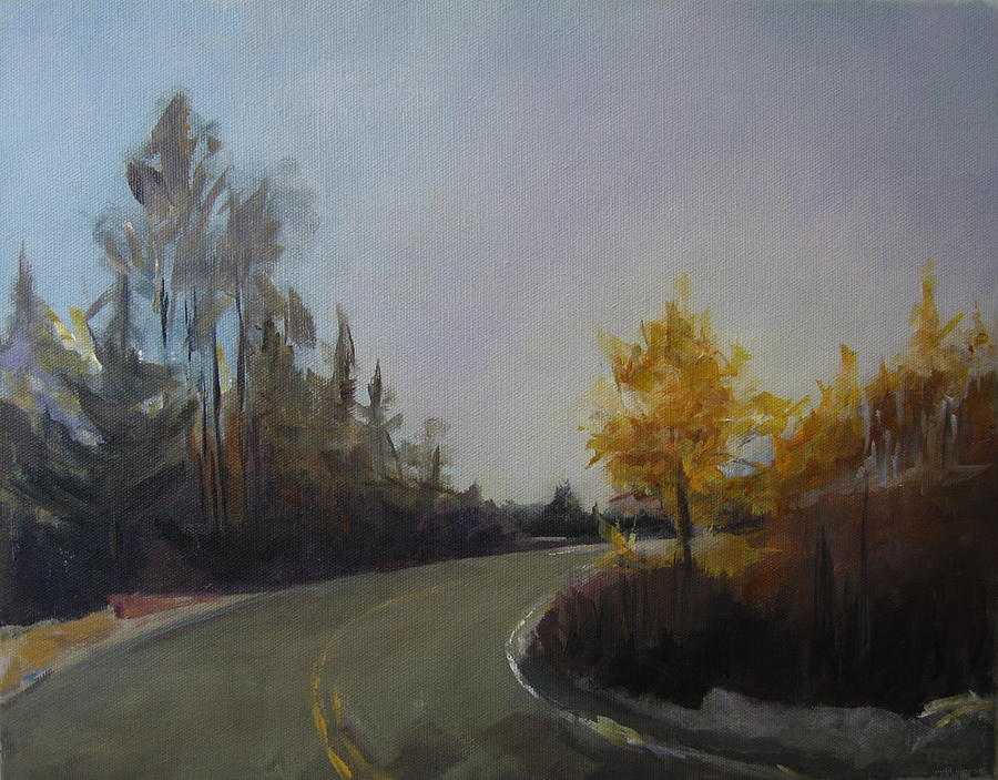Landscape Painting - Bogus Basin Road by Terri Messinger