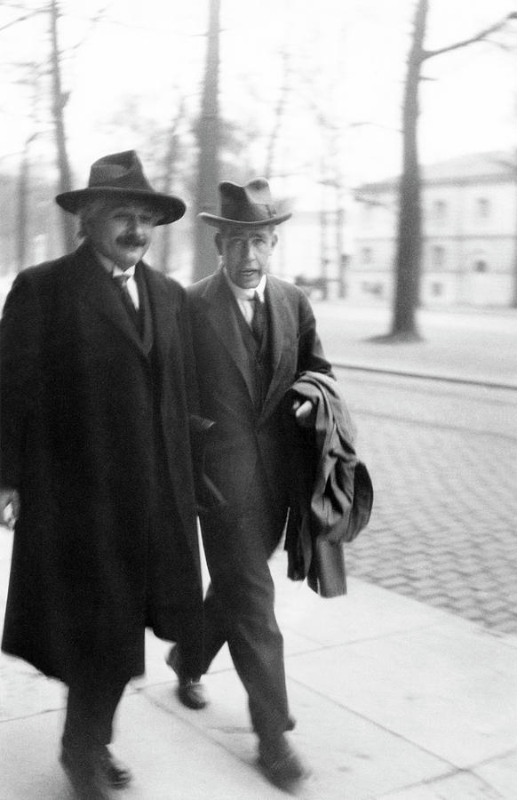 Adult Photograph - Bohr And Einstein by Emilio Segre Visual Archives/american Institute Of Physics