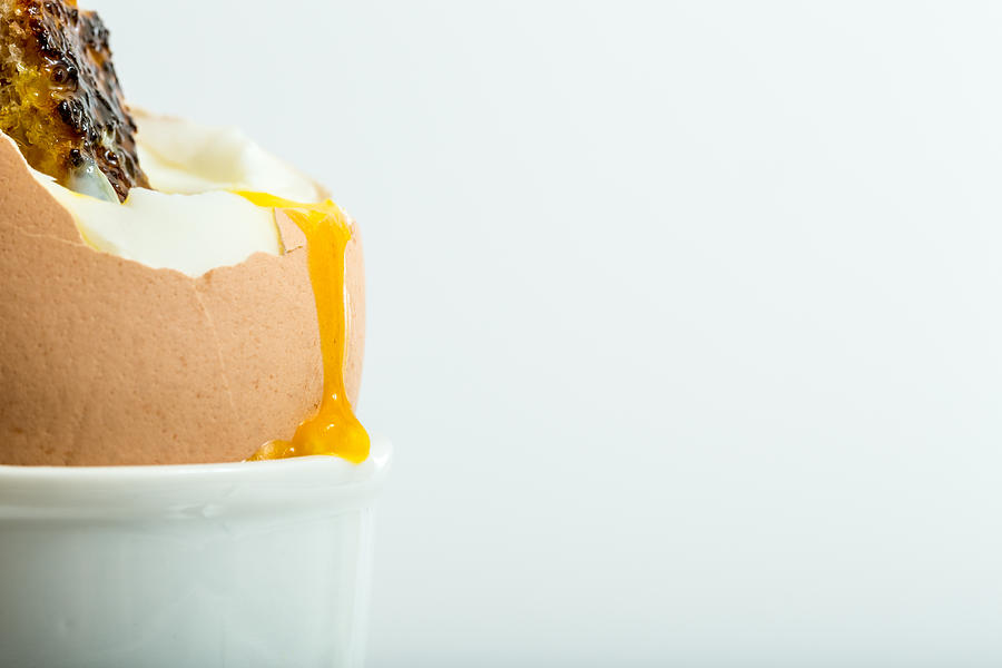 Egg Photograph - Boiled Egg With Toast. by Gary Gillette