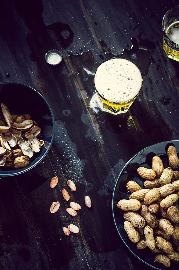 Boiled Peanuts And Beer Photograph by Chien-ju Shen