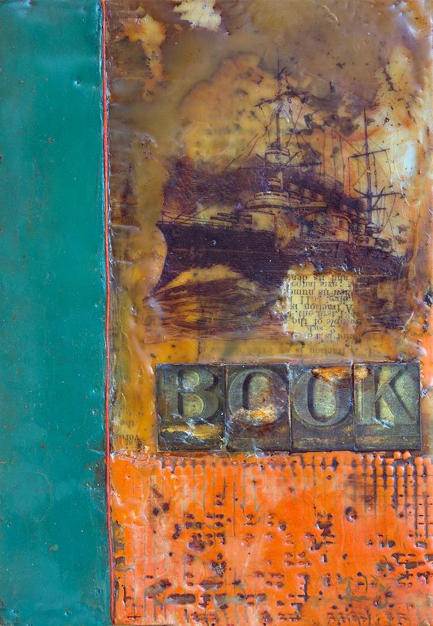 Bellesouth Studio Painting - Book Cover Encaustic by Bellesouth Studio