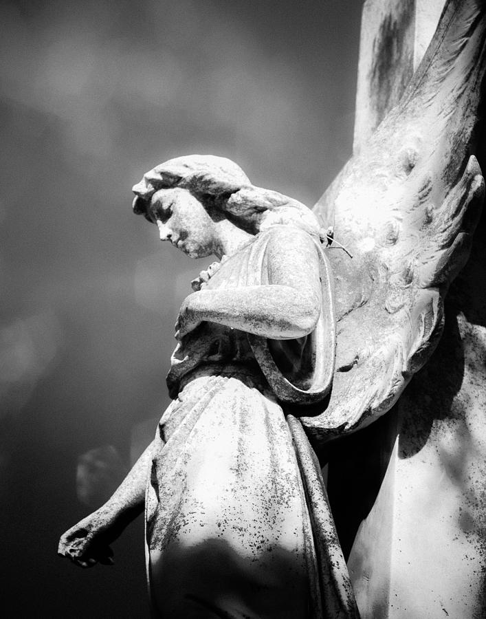 Angel Photograph - Bokeh Angel In Infrared by Sonja Quintero