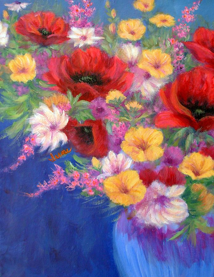 Flowers Painting - Bold And Beautiful by Irene Hurdle