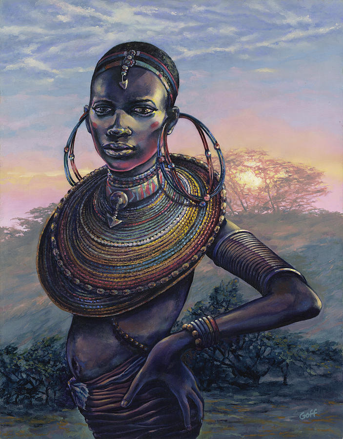 African Painting - Bold by Dennis Goff