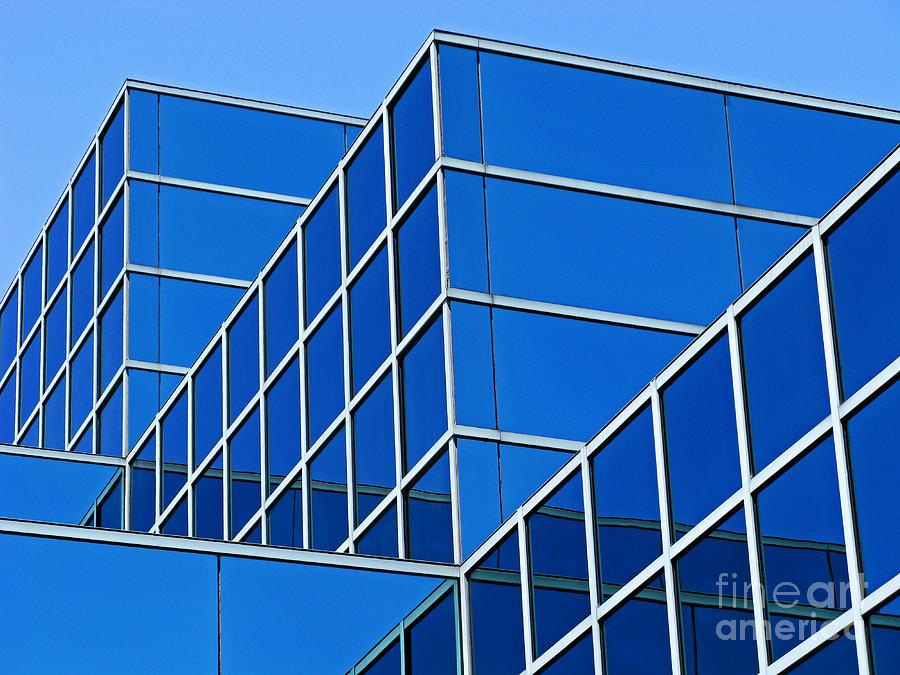 Building Photograph - Boldly Blue by Ann Horn