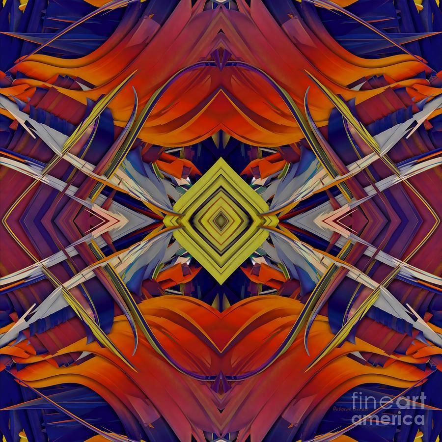 Abstract Digital Art - Boldness Of Color by Deborah Benoit