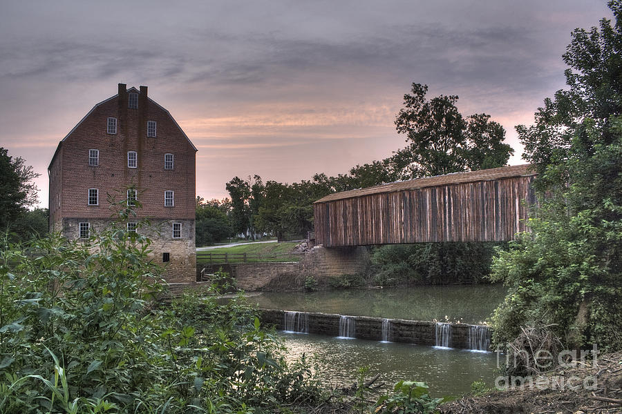 2008 Photograph - Burfordville Mill by Larry Braun