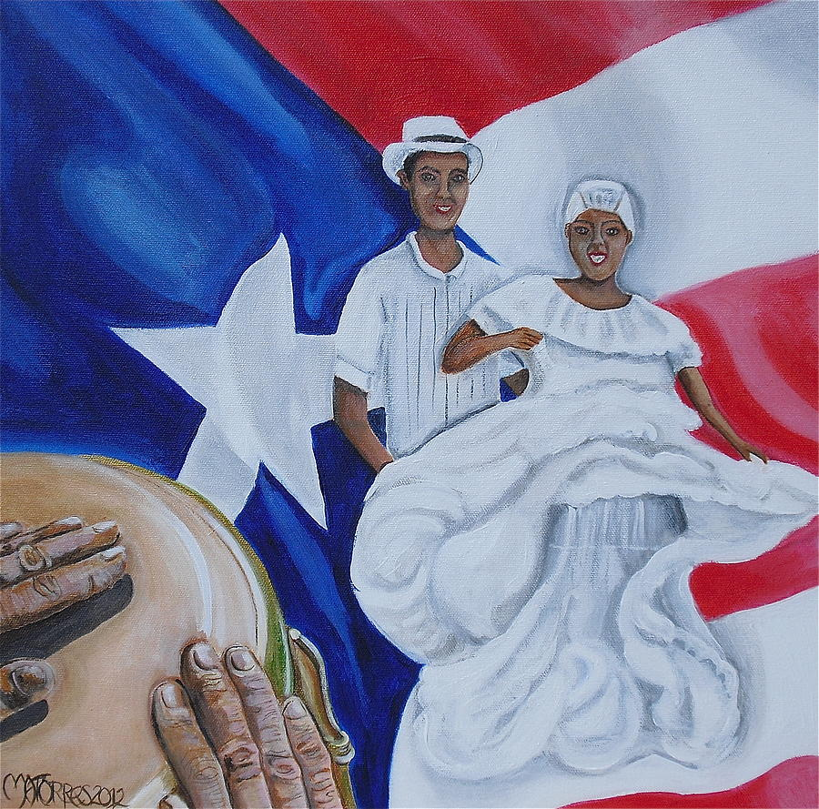 Puerto Rican Art Painting - Bomba by Melissa Torres