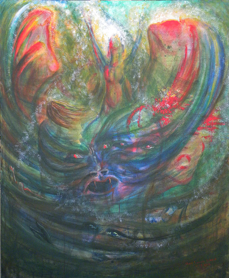 Bondage Painting - Bondage Broken by Sheri Lauren Schmidt