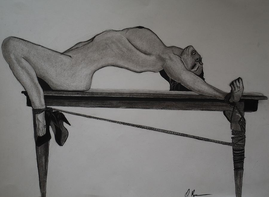 Bondage Drawing - Bondage by Ordette Rocque
