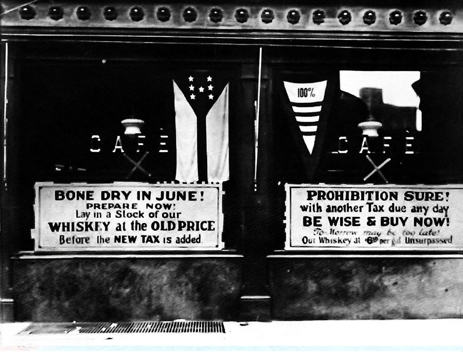 Prohibition Photograph - Bone Dry In June - Prohibition Sale by Bill Cannon