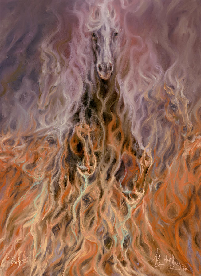 Fire Horse Pastel - Bonfire by Kim McElroy