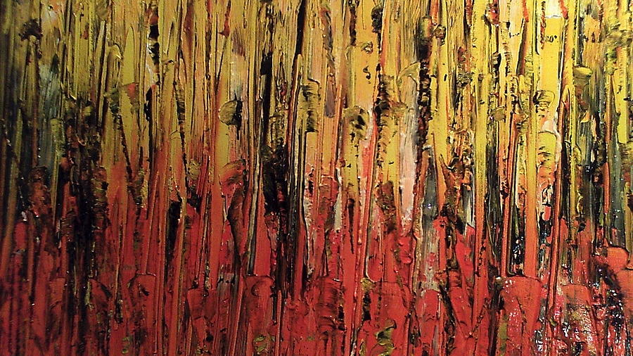Abstract Painting Painting - Bonfire by Lisa Williams