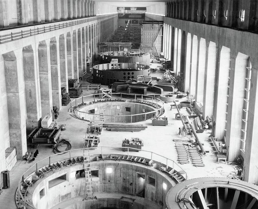 1930s Photograph - Bonneville Dam, C1935 by Granger