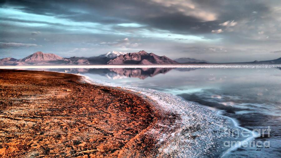 Bonneville Photograph - Bonneville Salt Flats by Patricia Betts