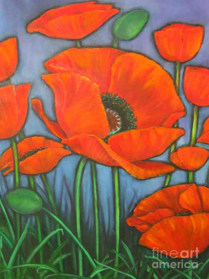Bonnie Jeans Poppies by M J Venrick