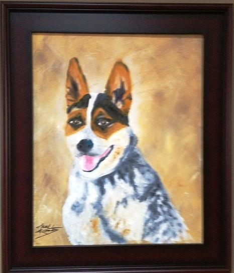 Dog Painting - Bonnie by Jenell Richards
